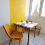 Papier peint jaune curry