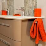 Porte serviette intégré