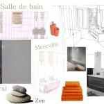 planche d'ambiance salle de bain